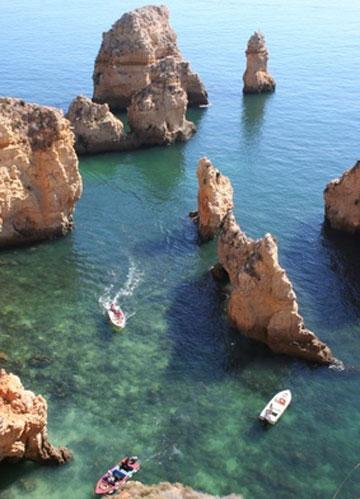 Felsen bei Albufeira an der Algarve