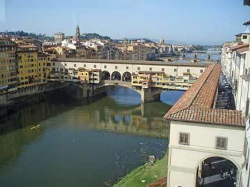 Florenz mit Blick auf den Arno