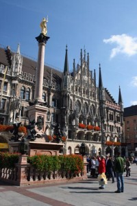 Rathaus am Marienplatz in München