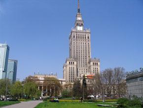 Der Palast der Kultur und Wissenschaft in Warschau